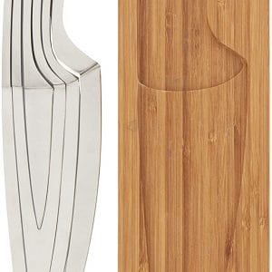 4PC NESTING KNIFE SET – 8″ CHEF KNIVES  PARING KNIFE, NESTED INTO ONE