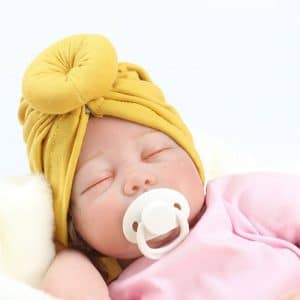 2020 Newborn Baby Turban Hat Baby Accessories With Bow Children Hat Solid Cotton Kont Blend Top Knot Kids Photo Props For Kids