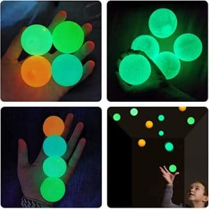 Fluorescent Sticky Ball Pressure Ball Decompression Ball Toy Family Entertainment Children Toy Christmas Gift Globbles